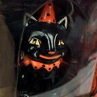 HALLOWEEN VINTAGE STYLE BLACK CAT SALT AND PEPPER SHAKERS
