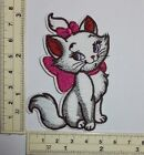 Aristocats Marie pink bow kitty cat Embroidered Sew On Iron On Patch appique