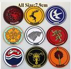 3 Game of Thrones logo Embroidered Iron On Sew On Patch