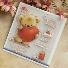 Bear Heart DIY Silicone Clear Stamp Cling Seal Scrapbook Embossing Album Decor
