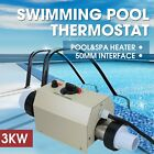 3KW Bath SPA 220V Hot Tub Electric Water Heater Thermostat Swimming Pool