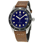 New Oris Diver 65 Blue Dial Brown Leather Strap Mens Watch 73377204055LS