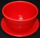 2006-07 Fiesta Ware Red Flower Pot Planter with Underplate - Discontinued Item!
