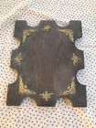 Early 1900's Wooden Picture Frame with Brass Detailed Trim 9 X 7 Photo