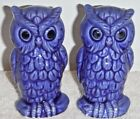 Blue Owl Bird Salt Pepper Shakers Made in Japan vintage