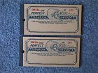 500 Lbs. The PERFECT ICE COUPON BOOK No.188-189 UNUSED c.1940 New Old Stock NOS