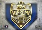 2015 Topps Supreme Baseball Hobby Box - Factory Sealed!
