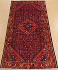 PERSIAN MAHAL Tribal Hand Knotted Wool NAVY BLUE RED Classic Oriental Rug 5 x 10