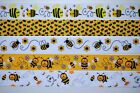 5 yds 7 8 Grosgrain Ribbon Mixed Lot Bumble Bee Printed Ref 02