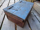 Antique Wood AAFA MAKE DO WOODEN OLD Box VINTAGE BARN FIND FOLK ART HAND MADE