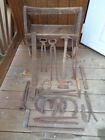 ANTIQUE VINTAGE WOODEN FERRIER farrier TOOL BOX TOOLS FARM USED BARN FIND
