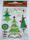 Christmas Crafts Scrapbook Stickers Happy Holiday Trees Embellishment 7 pcs