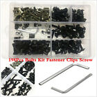 198Pcs Fairings Bolt Kit Fastener Nuts Screws for Yamaha Honda SUZUKI