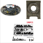Durable 198Pcs Motorcycle Fairing Bolts Kit Fastener Clips Screws For Sportbikes