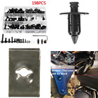 198 Pcs/Set Universal Black Motorcycle Scooter Fairing Spring Screws Bolts Nuts