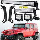 For Jeep Wrangler Tj 1997-2006 52 700w Led Light Bar Mounting Brackets Set