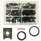 137pcs M6 Motorcycle Fairing Body Bolts  Spire Speed Fastener Clips Screw Nut