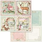 STAMPERIA 12x12 Scrapbook Paper Double Sided Cardstock Pink Christmas Cards