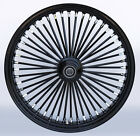 Black 48 King Spoke 21 x 35 Single Disc Front Wheel for Harley and Custom