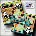 JUST CHILLIN 2 premade scrapbook pages paper piecing baby BY CHERRY 0041
