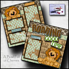 ROARING GOOD TIME 2 premade scrapbook pages paper piecing party CHERRY 0042