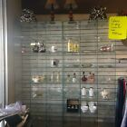 All Glass Store Showcase Display Case 8 Rows of Three 10 x 9 Square Shelves