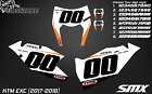 2018 KTM EXC-F 125 250 300 350 450 custom number plates backgrounds decal enduro
