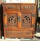 Huge Huanghuali Wood Peony Flower Bird  Cupboard Box Cabinet Boxes Forcer Statue