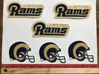 6 St Louis Rams Fabric Applique Iron On Ons