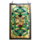 Victorian Stained Glass Hanging Window Panel Home Decor Suncatcher 28H