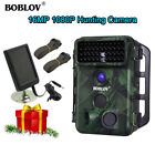 Trail Scouting Camera 1080P 120°Wide Angle Lens 42pcs IR + Solar Panel 2pcs Belt