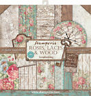 Stamperia Double Sided Paper Pad 12X12 10 Pkg Roses Lace  Wood 10 Designs 1