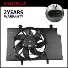 Front Radiator Cooling Fan Assembly w 7 Blade For Ford Fiesta 16L BE8Z8C607A