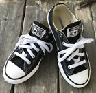 Converse All Star Unisex Black Low Canvas Sneakers Youth 15 EUC