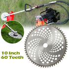 10 Inch Brush Cutter String Trimmer Carbide Blade 60T Teeth For Cutting Weeds