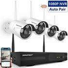 Wireless Security Camera System,SMONET 4CH HD Video Security System,4pcs HD Bull