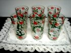 Vintage 4pc  Christmas and New Year's 8 oz. glasses