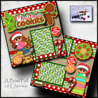 CHRISTMAS COOKIES 2 premade scrapbook pages paper piecing layout CHERRY 0044