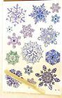 Nicole Snowflake Rub Ons Transfers Wood Crafts Paper Scrapbooking Cards Fabric