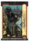 1999 Bowman Chrome International Refractor RICKEY HENDERSON #06 100 Hall of Fame