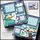 FREEZIN SEASON WINTER 2 premade scrapbook pages paper piecing CHERRY 0045