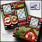 CHRISTMAS SANTA MRS CLAUS 2 premade scrapbook pages paper piecing CHERRY 0046