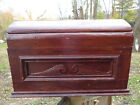 Antique Trunk Dome Coffin Blanket Chest Tool Box WOOD BARN FIND AAFA PRIMITIVE