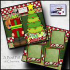 CHRISTMAS PRESENTS GIFTS 2 premade scrapbook pages paper piecing CHERRY 0047