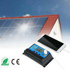 30A Solar Panel Controller 12V 24V Auto Battery Charge Regulator PWM Dual USB US