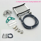 1xCNC Engine Oil Cooler Cooling Radiator Kit Silver 140cc 150cc 160cc Silver AL