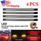 4x LED Strips Tail Brake Light For Yamaha V-Star 650 Custom Classic XVS650 US