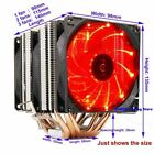 High quality 4PIN CPU cooler 115X 1366 20116 heatpipe dual tower cooling