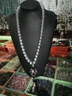 Rare Exquisite Chinese Make crystal white Austria Bead Necklace