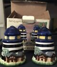 salt and pepper shakers Lighthouse NIB